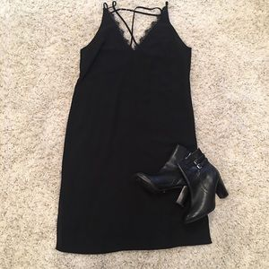 Dresses & Skirts - Black Midi Slip Dress